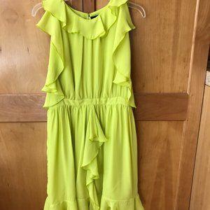 Prabal Gurung for Target Chartreuse Ruffle Dress
